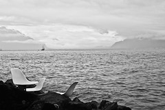 Lonely Chairs (Diueine) Tags: nikon d850 vevey tamron 45mm f18 vc switzerland suisse schweiz