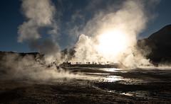 A Moment of Brightness (MrBlackSun) Tags: atacama atacamadesert sunrise smoke vapour damp fumes geyser geysers eltatiogeysers eltatio nikon d850 landscape chile landscapephotography