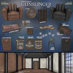 [Kres] Gunslinger Set ([krescendo]) Tags: mancave maledecor decor secondlife kres krescendo furniture interiordesign masculine animated