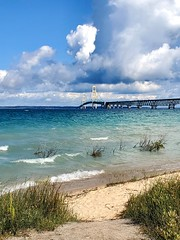Mackinac Bridge & Lake Michigan (Neil Noland) Tags: michigan mackinawcity lakemichigan mackinacbridge