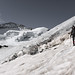 Bij de Bergschrund van de Roche Faurio - 3500m