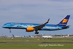 B757 TF-FIR ICELANDAIR special colours (shanairpic) Tags: jetairliner passengerjet b757 boeing757 dublin icelandair tffir specialcolours