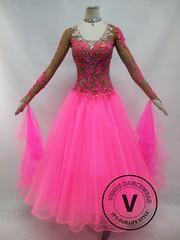 Pink Competition Ballroom Dance Dress (Venus Dancewear) Tags: ballroomdress ballroomdancedress latindress dancewear ballroom competition dress venus dresses dance