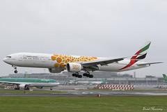 Emirates (Expo 2020 Orange) 777-300(ER) A6-ENR (birrlad) Tags: dublin dub international airport ireland aircraft aviation airplane airplanes airline airliner airways airlines emirates expo 2020 livery special colour scheme decals titles boeing b777 b773 b77w 777 777300er 77731her a6enr orange