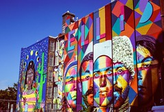 PS Wall Mural, West Village NYC (Raphe Evanoff) Tags: nyc manhattan film velvia art colors