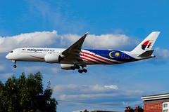 "9M-MAG | Malaysia Airlines (""Malaysia Negaraku"" livery) | Airbus A350-941 | LHR/EGLL (Tushka154) Tags: unitedkingdom malaysiaairlines a350900 london a350941 a350 9mmag specialscheme malaysianegaraku airbus heathrow spotter a350xwb airbusa350 airbusa350xwb aircraft airplane avgeek aviation aviationphotography planespotter planespotting spotting uk"