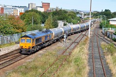 66702 Ainsworth Bridge 16-9-19. (Blackburns Railway Scene) Tags: 66702 bluelightening gbrf bluebirds class66s 6v82 ainsworthbridge