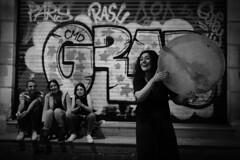 Streetmusic (K.BERKİN) Tags: woman turkey tourism turkishinstrument human musician people street streetphoto streetphotograpy girl handmade life leica istanbul istiklal instrument city blackwhite mirroless