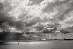 Light house (L@nce (ランス)) Tags: cloudy storm clouds brotchie ledge lighthouse salishsea juandefuca pacific ocean vancouverisland victoria nikon britishcolumbia jamesbay bw monochrome beautyofwater water