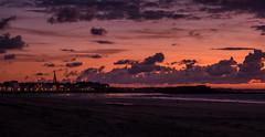 Saint Malo Sunset (Peter Leigh50) Tags: sunset sky skyscape sea seascape town building townscape landscape landschaft beach seaside outside church fort light reflection fujifilm fuji xt10