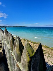 Lake Michigan with Fence (Neil Noland) Tags: mackinawcity fortmichilimackinac michigan lakemichigan
