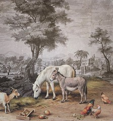 Pasha's Farm (The Grand Collage) Tags: collage fantasy landscape horse donkey chickens goat dream wall wallpaper trees people