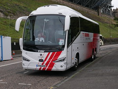 City Circle of Newbridge Scania K410EB6 Irizar i6s YT19EFN 107, in Globus Tours livery, at Johnston Terrace, Edinburgh, on 5 September 2019. (Robin Dickson 1) Tags: busesedinburgh citylink irizari6s globustours yt19efn scania410eb6