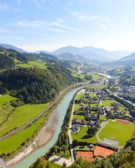 Werfen (George Bewsher) Tags: mountains vista travel wanderlust wideangle nikon d610 sigma24105mm sigmaartlens austria werfen hohenwerfen castle