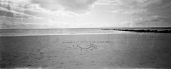 Ireland 2019934 (robbie3331) Tags: ireland galway i love you beach pinhole kodak trix 400 rodinal black white ondu 6x12 mkiii medium format film analoge nodigital