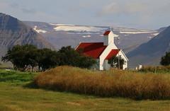 Holtskirkja (hó) Tags: holt holtskirkja önundarfjörður westfjords vestfirðir iceland landscape church lutheran trees mountains snow august 2019 history