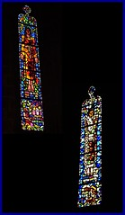16 - Villedieu-les-Poêles -Église Notre-Dame - Vitraux du choeur (melina1965) Tags: panasonic lumix dmctz57 août august 2019 normandie bassenormandie manche villedieulespoêles