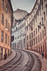 Lisboa (ValterB) Tags: 2019 portugal lisbon lisboa nikond90 valterb nikkor nikon urban urbanphotography urbangeometry street streetphotography stone tram house holiday architecture abstract building buildings beautiful europe