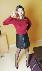 672 (Lily Blinz) Tags: tgirl transvestite trans travesti trav transgender transgenre tranny tv tg tranvestite ts crossdressed crossdresser crossdress crossdressing crossgender lilyblinz blinz stocking nylon