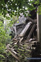 Oberösterreich Weyer_DSC0411 (reinhard_srb) Tags: oberösterreich weyer zusammnbruch dach holzbalken absturz gerümpel unkraut hinterhof