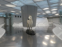 Germany - Baden-Württemberg - Stuttgart - Mercedes-Benz Museum - Horse - the form of transport before the car (JulesFoto) Tags: germany badenwürttemberg stuttgart mercedesbenzmuseum horse sculpture