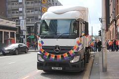 Sainsbury's Lorry at Glasgow Pride March (Jeff And) Tags: sainsburys glasgow scotland pride march demo rainbowflag
