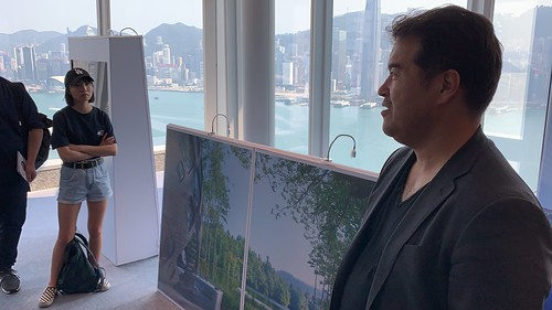 David Malott gives a tour of AI SpaceFactory at HK ICC