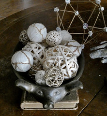 Still Life with Geometrics (MacGuffin56) Tags: stilllife geometry icosahedron brown ecru pig book ambientlight
