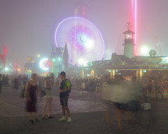 (Matt Allouf) Tags: bronica 645 etrsi 120 lomography 800 medium format color film epsonv500 coneyisland brooklyn fog
