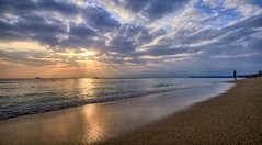 Playa de Palma, Mallorca (Vest der ute) Tags: fav25 spain beach sand sunset waves sky clouds fav200