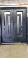 """74"""" x 82"""" Modern Style Double Square-Frame Iron Door (citydesignerdoors) Tags: iron door security home improvement"""