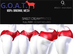 G.O.A.T. 9s JESSICA & RHEA REMIX SWEET CREAM PANTIES FULL PERM (Key Stackz) Tags: goat 9s jessica rhea remix sweet cream panties meshfullperm