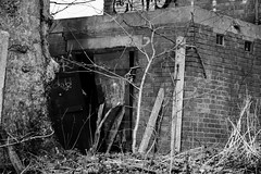 Abandoned (lightersideofdark) Tags: blackwhite street streetphotography dark outside outdoors brickwall brick wall architecture urban demolition abandoned decay derelict