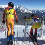 Visually Impaired skier and Guide