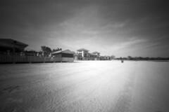 Jackson Park Beach (Mark Wyco) Tags: pinhole jacksonpark beach lakemichigan chicago 6x9f realitysosubtle