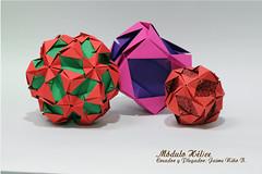 Módulo Hélice (Jaime Niño Bernal) Tags: origamimodular origami kusudama