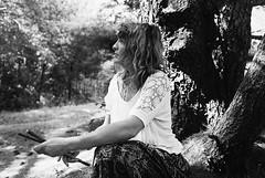 MM5-063-30b (David Swift Photography) Tags: davidswiftphotography portraits portraitsofwomen filmportraits profile forest women film nikonfm2 ilfordxp2