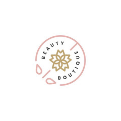 Beauty boutique logo design illustration (nobirbu) Tags: ads advertisement advertising badge beauty beautyboutique beautyparlor beautysalon beautyshop brand business campaign commerce cosmetictreatments decor decoration design element emblem graphic hairsalon icon illustrated illustration information isolated isolatedonwhite label logo marketing message natural pink retro salon seal spa stamp sticker style symbol template trade treatment vector white whitebackground