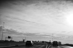 I-65, Indianapolis (icki) Tags: august2019 i65 in indiana blackandwhite driving highway nopeople