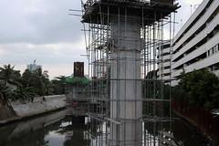 bridge under construction (_gem_) Tags: philippines sanjuan metromanila city street urban bridge construction