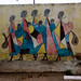 Maasai Women Walking to Market with Babies and Milk Gourds, Tinga Tinga Mural