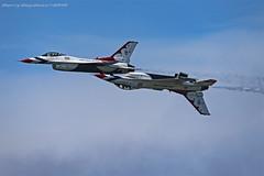"U.S. Air Force - 57th Wing - ""Thunderbirds"" Lockheed Martin F-16 Fighting Falcon (Harry Gaydosz) Tags: airplanes airshow usaf usairforce usafthunderbirds lockheedmartinf16fightingfalcon clevelandairshow2019"