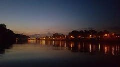 Evening Views | Charleston, WV (ShannonLyons17) Tags: charleston universityofcharleston charlestonwv charlestonsuniversity college water river riverbank boatdock dock kanawhacounty kanawhariver sunset dusk evening streetlamps streets reflection shadow