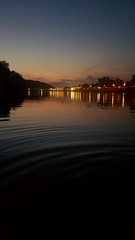 Evening Views | Charleston, WV (ShannonLyons17) Tags: river riverbank boatdock dock charleston universityofcharleston charlestonwv charlestonsuniversity westvirginia kanawhacounty kanawhariver sunset dusk city lights reflection shadow streetlamps water college ripple
