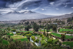 Carmen Alto, Arequipa (marko.erman) Tags: arequipa peru latinamerica southamerica carmenalto mirador preincaagriculture landscape volcanoes mountains highaltitude tiedechilevalley travel city balcony pov view panoramic panorama sony sunny green trees beautiful