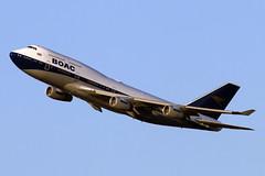 G-BYGC (JBoulin94) Tags: gbygc british airways boac special livery retrojet retro boeing 747400 washington dulles international airport iad kiad usa virginia va john boulin