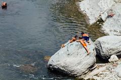 Boys Playing In River, Myanmar (AdamCohn) Tags: adam cohn burma chauk myanmar river streetphotographer streetphotography wwwadamcohncom adamcohn