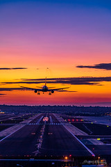 Final (dan@propeakphotography.com) Tags: aircraft airplane airport america blue blueskies california citylights clouds famousplace flight flightpath industrial lindbergfield northamerica plane pointloma runway san sandiego sunset traveldestination travelandtourism usa unitedstates