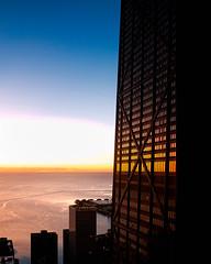 John Hancock Sunrise (Dalliance with Light (Andy Farmer)) Tags: johnhancock architecture skyscraper sunrise chicago lakemichigan illinois unitedstatesofamerica