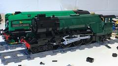 Slow work (Britishbricks) Tags: lner lego steam train engine loco wip moc a2 a22 p2 prince wales thane fife